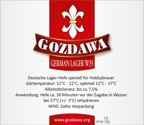German Lager W35 gist